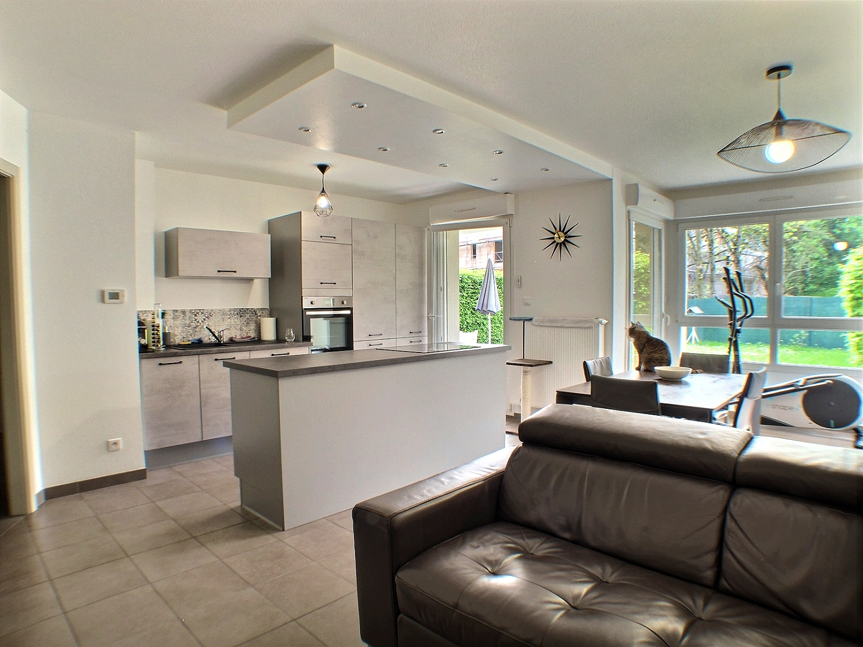 Pfastatt, Appartement 72 m², avec jardin.